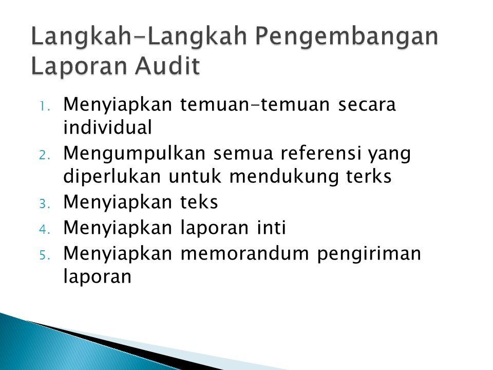 Langkah-Langkah Pengembangan Laporan Audit