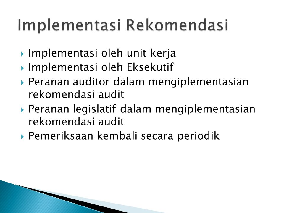 Implementasi Rekomendasi