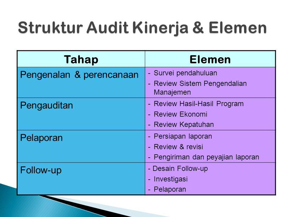 Struktur Audit Kinerja & Elemen
