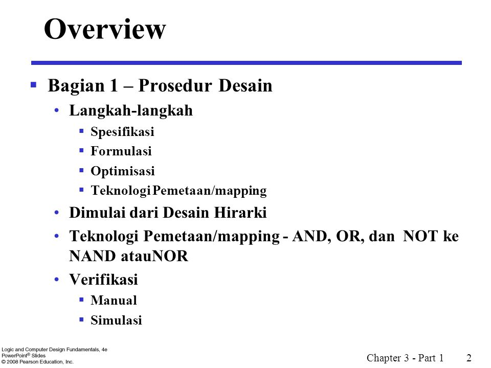 Overview Bagian 1 – Prosedur Desain Langkah-langkah