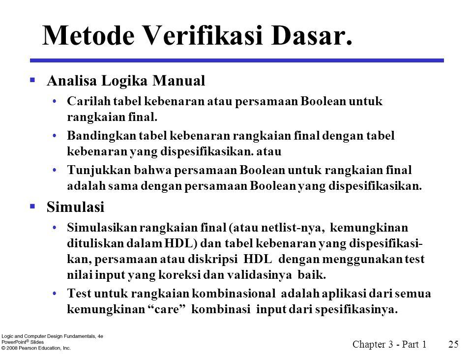 Metode Verifikasi Dasar.