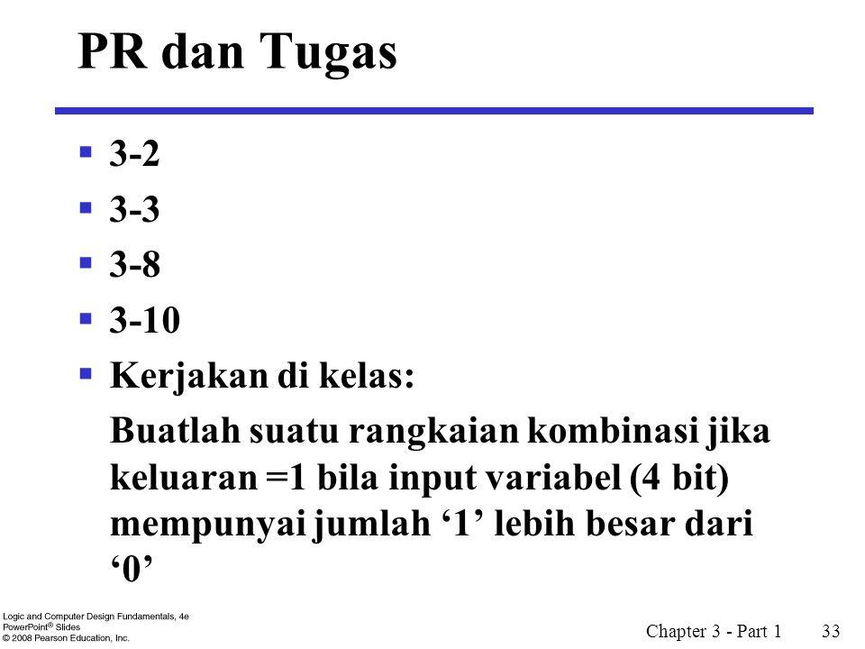 PR dan Tugas 3-2 3-3 3-8 3-10 Kerjakan di kelas: