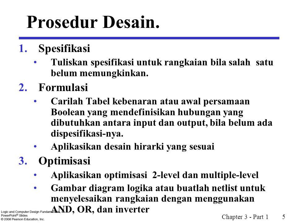 Prosedur Desain. Spesifikasi Formulasi Optimisasi