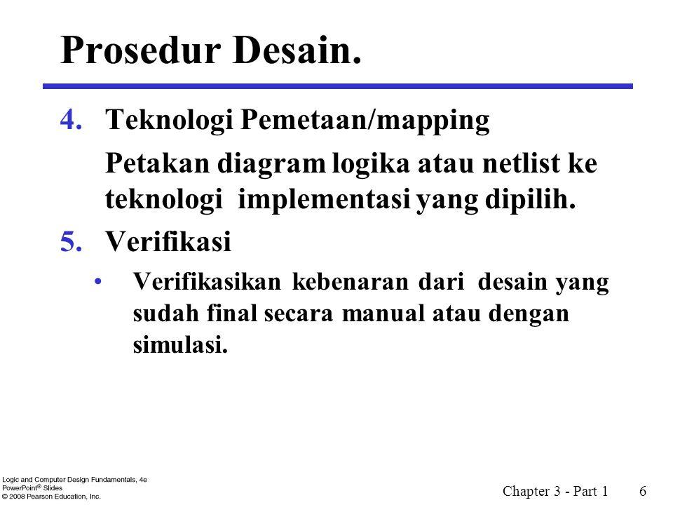 Prosedur Desain. Teknologi Pemetaan/mapping