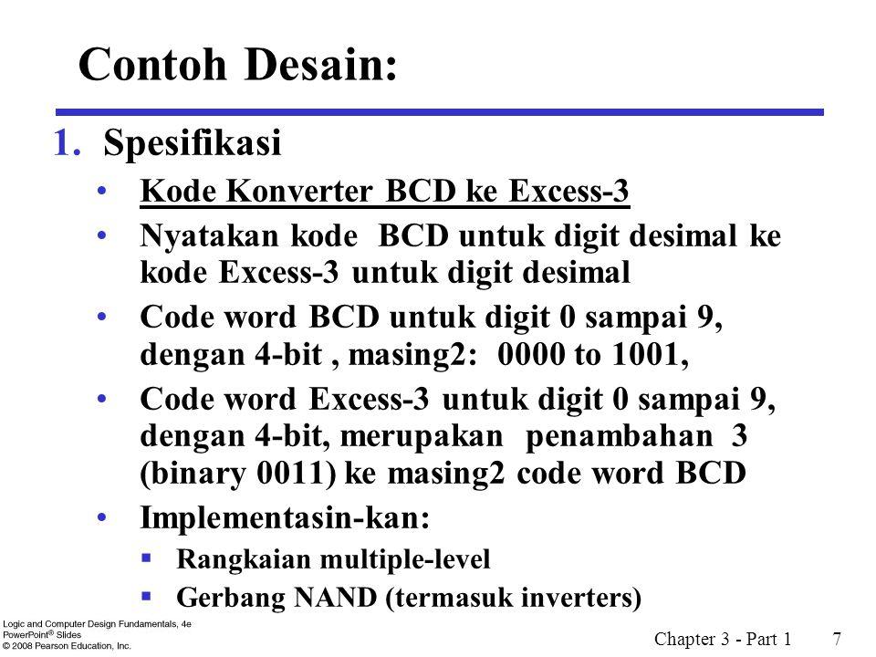 Contoh Desain: Spesifikasi Kode Konverter BCD ke Excess-3
