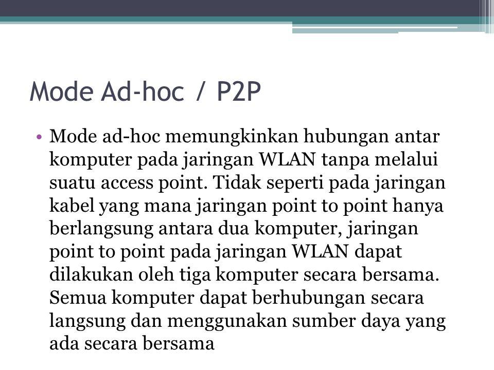 Mode Ad-hoc / P2P
