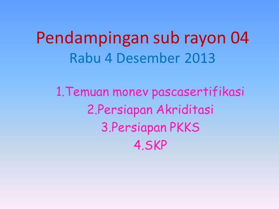 Pendampingan sub rayon 04 Rabu 4 Desember 2013