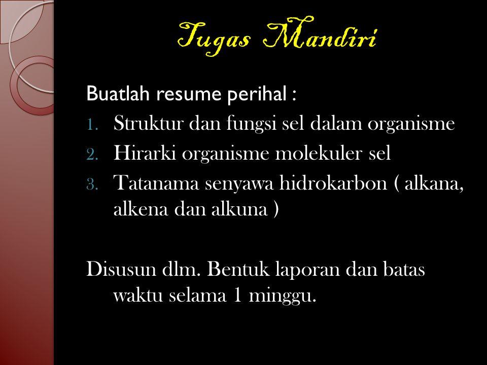 Tugas Mandiri Buatlah resume perihal :