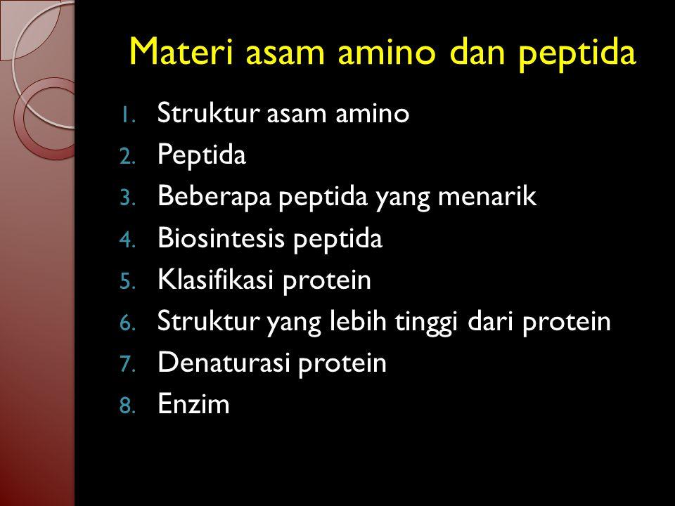 Materi asam amino dan peptida