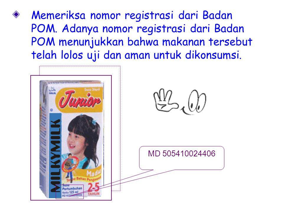 Memeriksa nomor registrasi dari Badan POM