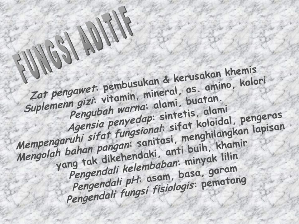 FUNGSI ADITIF