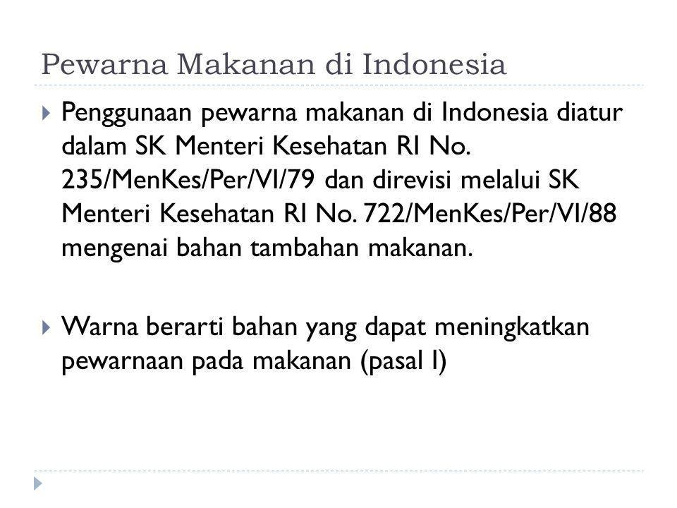 Pewarna Makanan di Indonesia