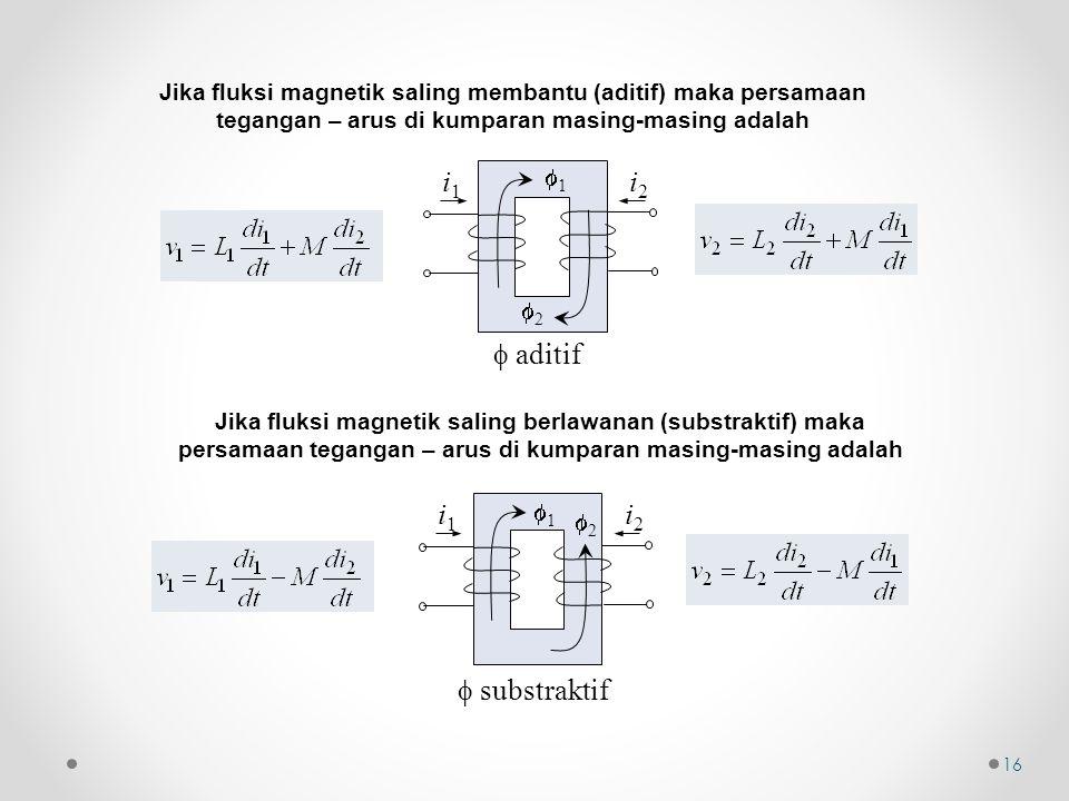  aditif i1 i2  substraktif i1 i2 1 2 1 2