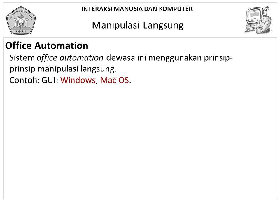 Manipulasi Langsung Office Automation