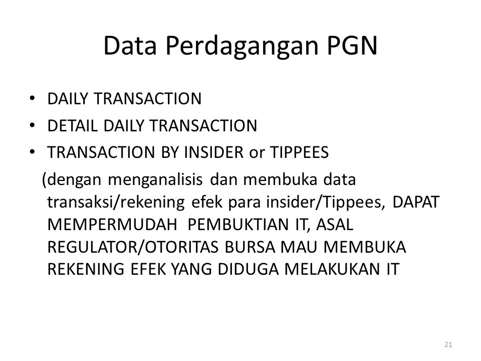 Data Perdagangan PGN DAILY TRANSACTION DETAIL DAILY TRANSACTION