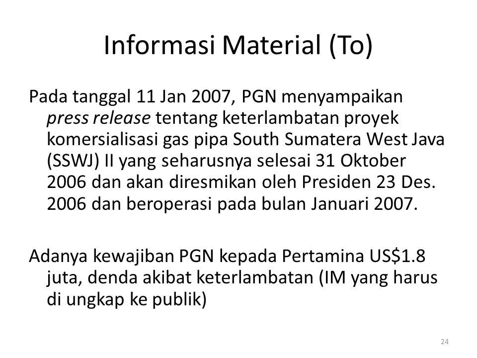 Informasi Material (To)