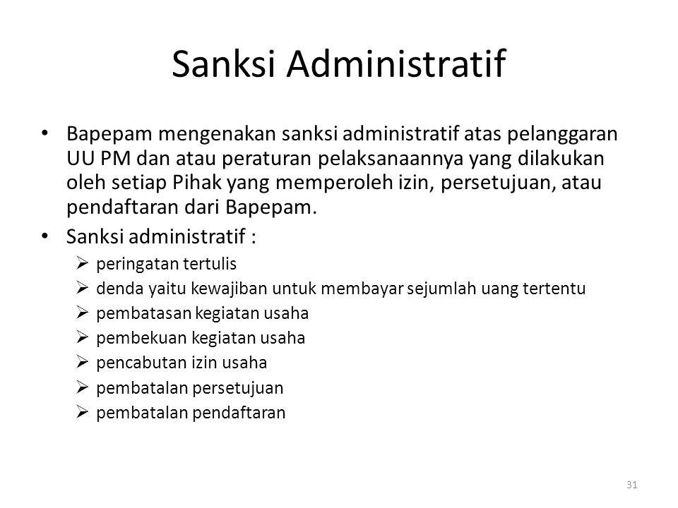 Sanksi Administratif