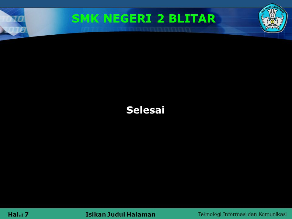SMK NEGERI 2 BLITAR Selesai