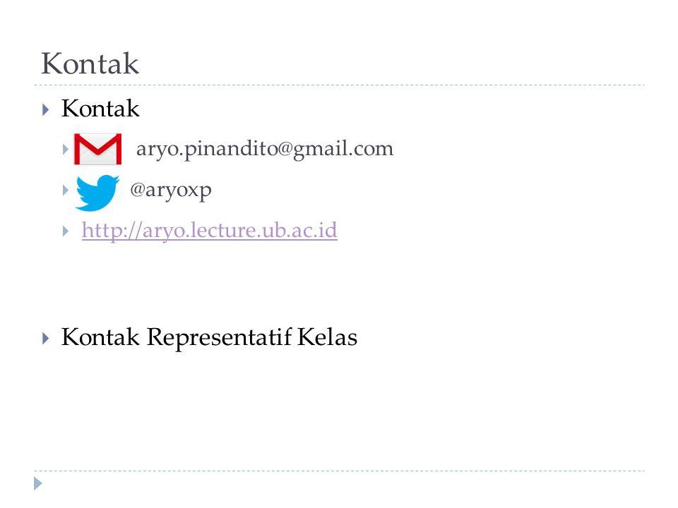 Kontak Kontak Kontak Representatif Kelas aryo.pinandito@gmail.com
