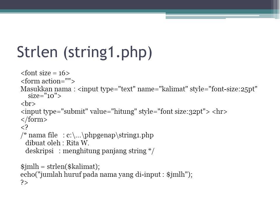 Strlen (string1.php)