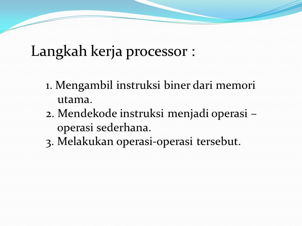 Langkah kerja processor :