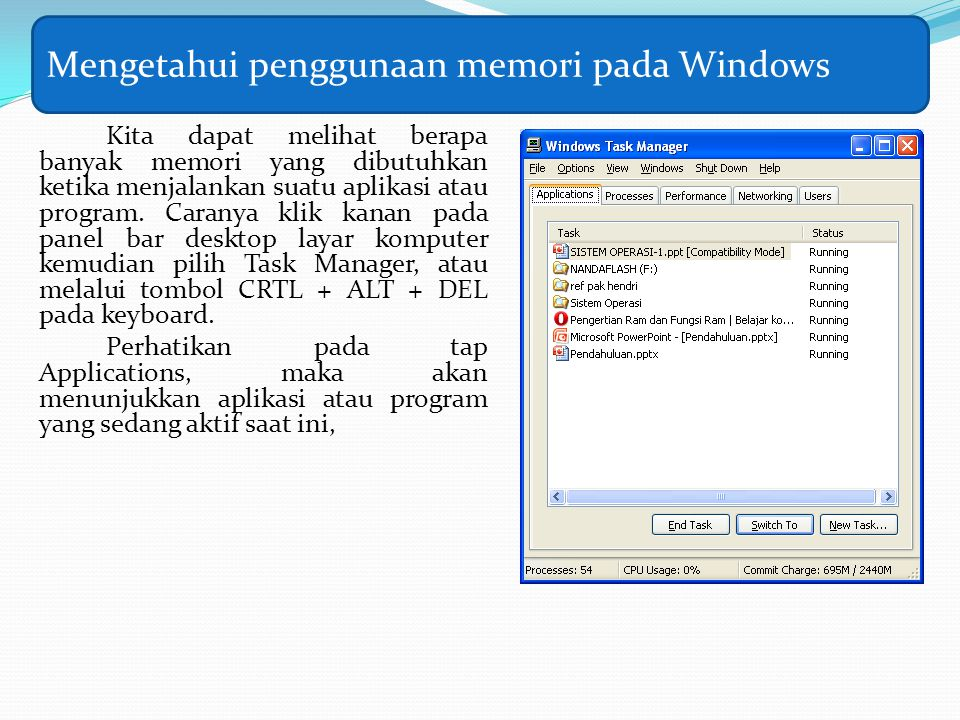 Mengetahui penggunaan memori pada Windows