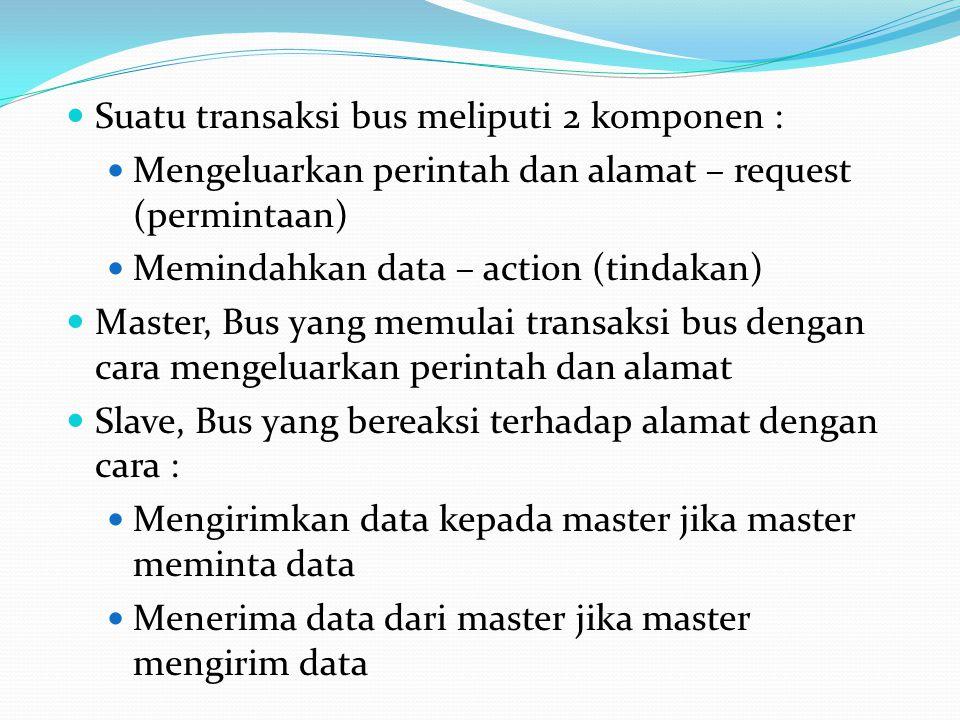 Suatu transaksi bus meliputi 2 komponen :