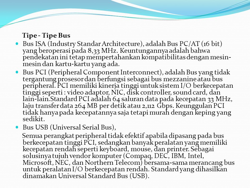 Tipe - Tipe Bus