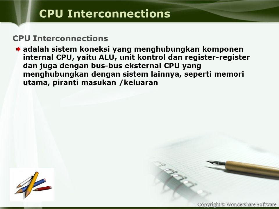 CPU Interconnections CPU Interconnections