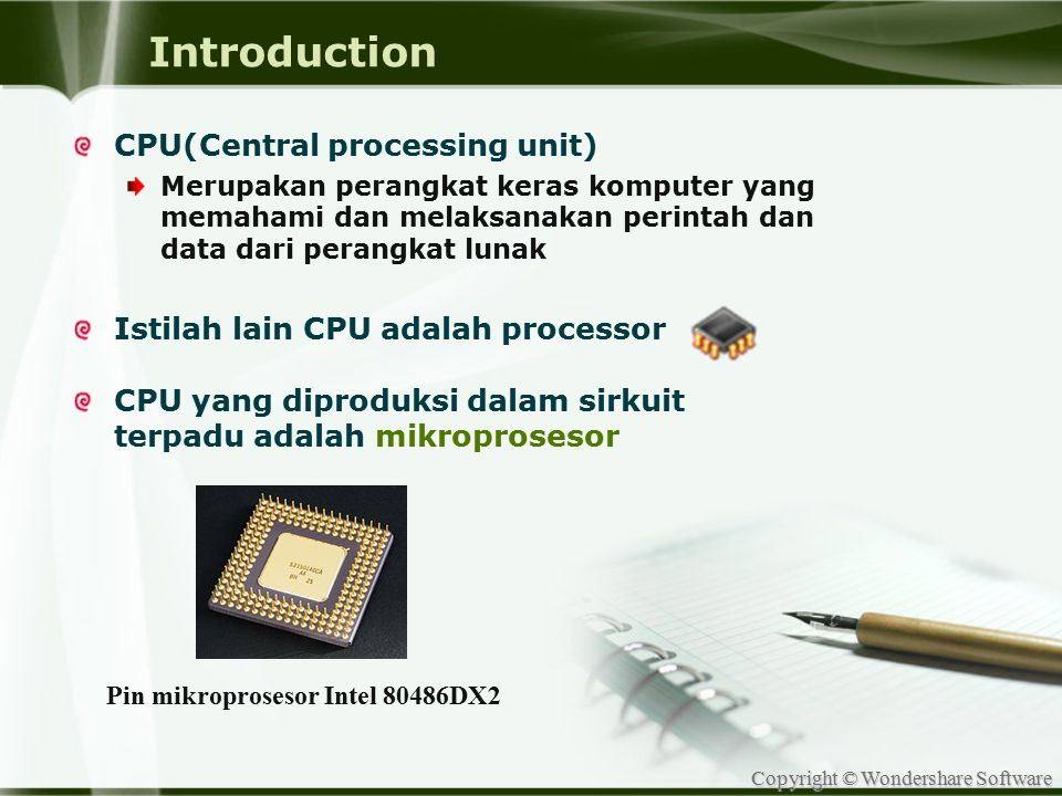 Pin mikroprosesor Intel 80486DX2