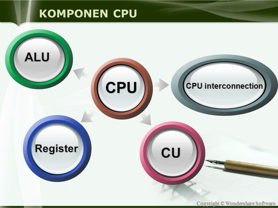 KOMPONEN CPU ALU CPU CPU interconnection Register CU