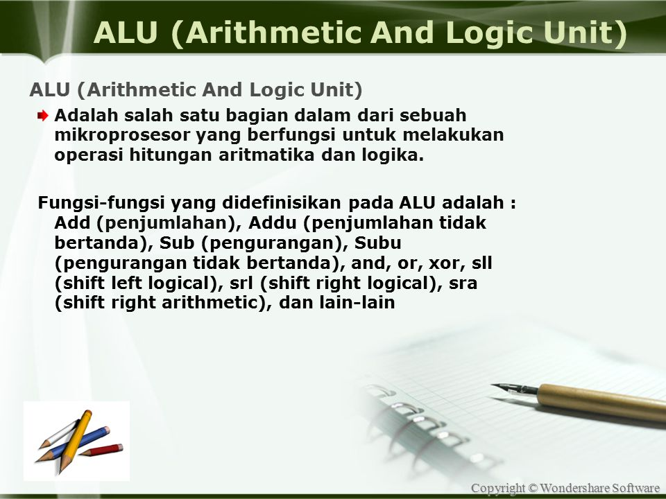 ALU (Arithmetic And Logic Unit)