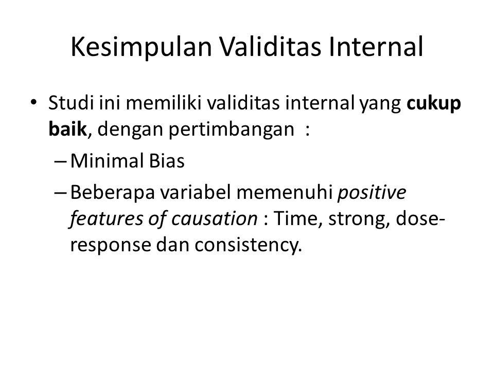 Kesimpulan Validitas Internal