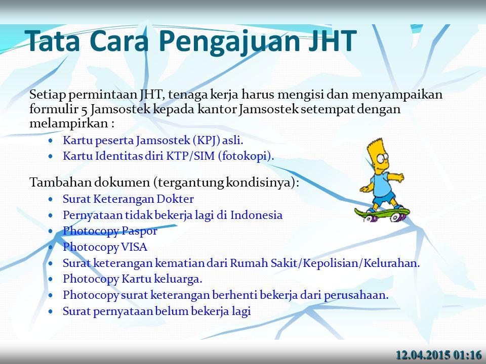 Tata Cara Pengajuan JHT