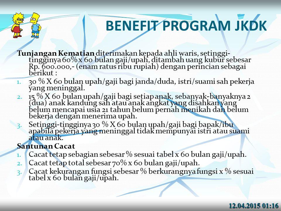 BENEFIT PROGRAM JKDK