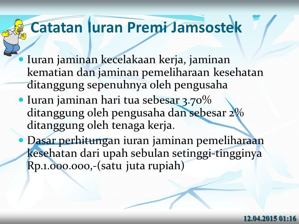 Catatan Iuran Premi Jamsostek