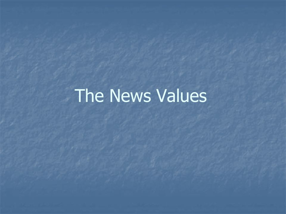 The News Values