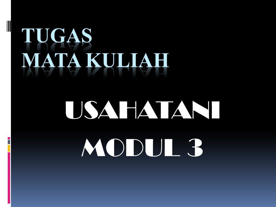TUGAS MATA KULIAH USAHATANI MODUL 3
