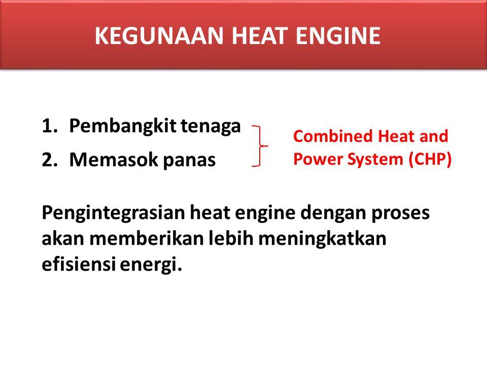 KEGUNAAN HEAT ENGINE Pembangkit tenaga Memasok panas