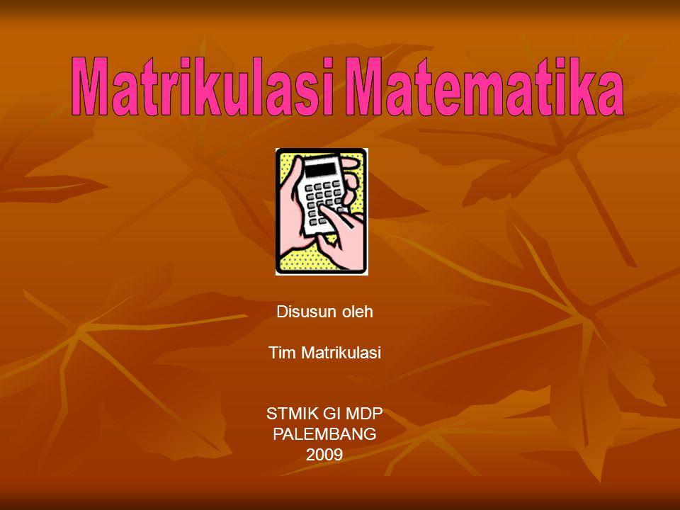Matrikulasi Matematika