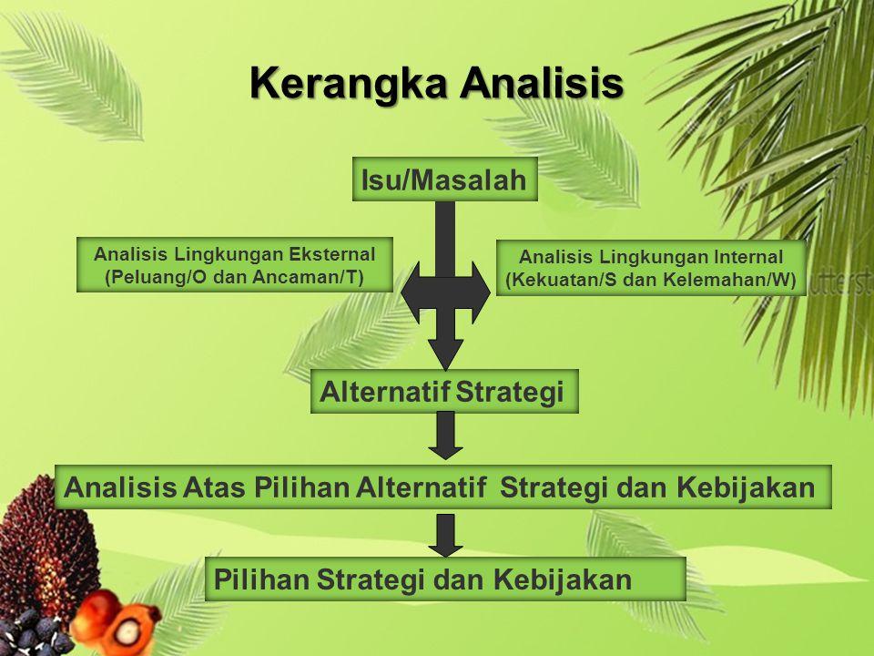 Kerangka Analisis Isu/Masalah Alternatif Strategi