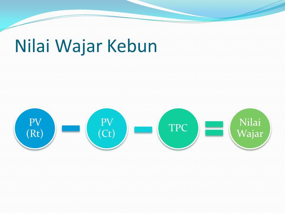 Nilai Wajar Kebun PV (Rt) PV (Ct) TPC Nilai Wajar