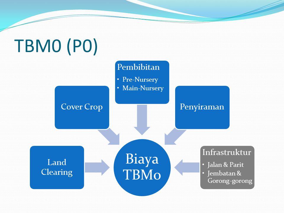 TBM0 (P0) Biaya TBM0 Land Clearing Cover Crop Pembibitan Pre-Nursery