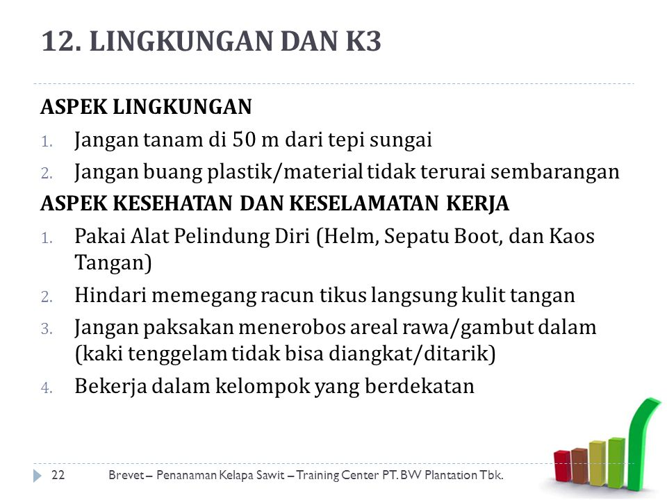 12. LINGKUNGAN DAN K3 ASPEK LINGKUNGAN