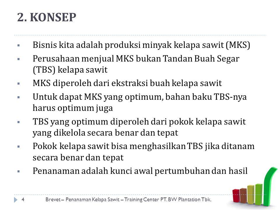 2. KONSEP Bisnis kita adalah produksi minyak kelapa sawit (MKS)