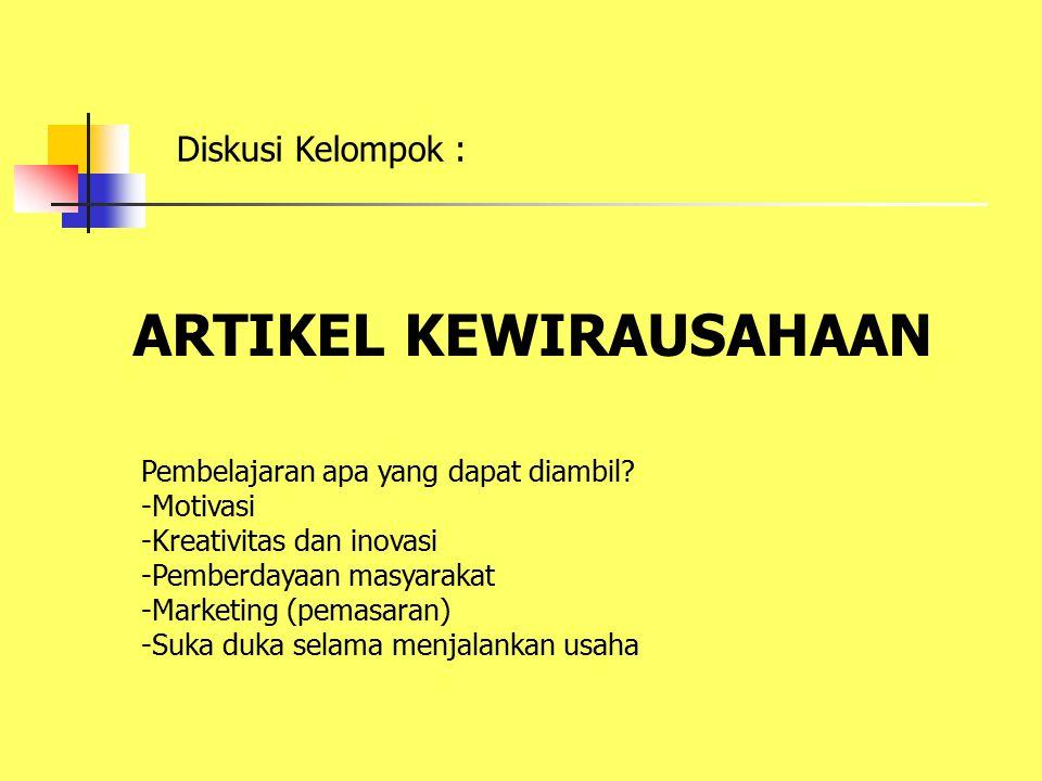 ARTIKEL KEWIRAUSAHAAN