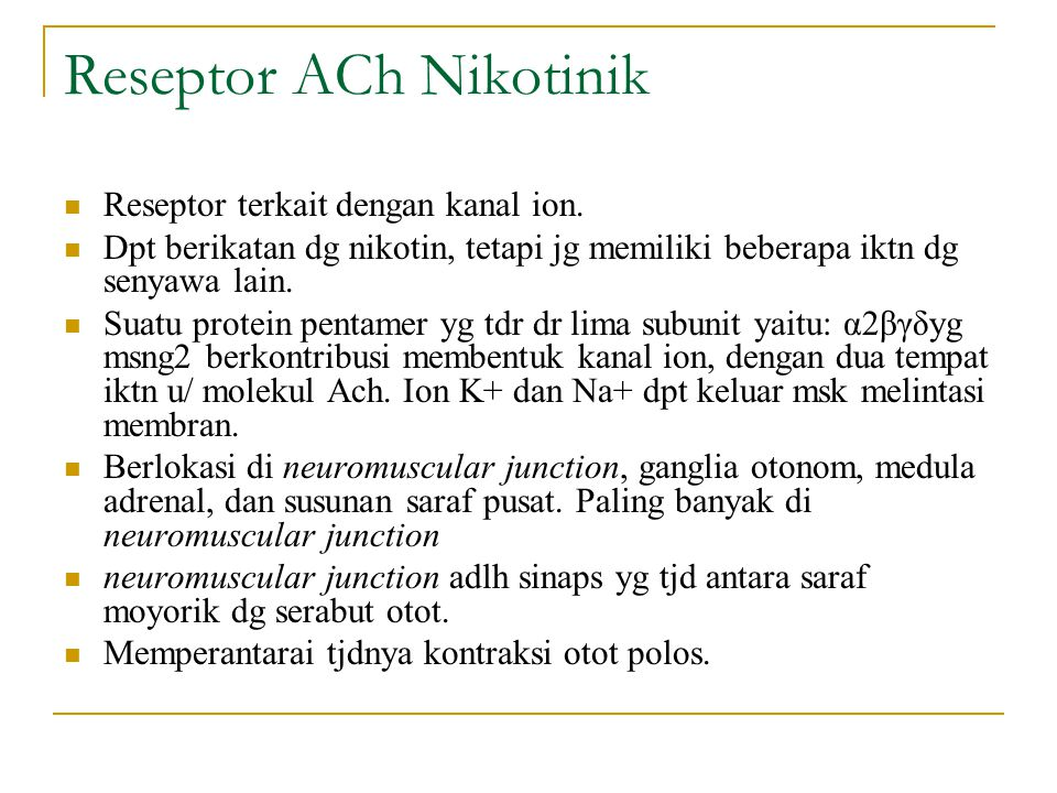Reseptor ACh Nikotinik