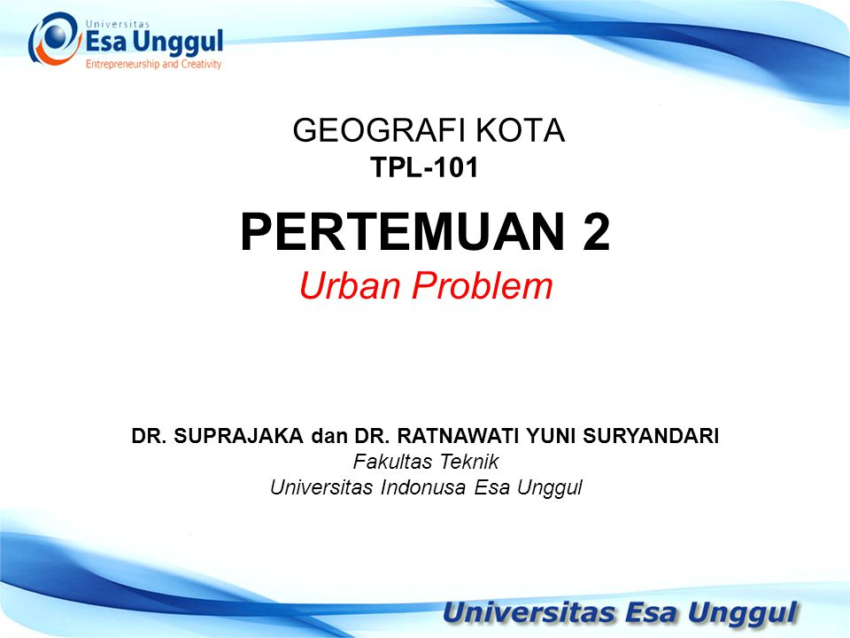 DR. SUPRAJAKA dan DR. RATNAWATI YUNI SURYANDARI
