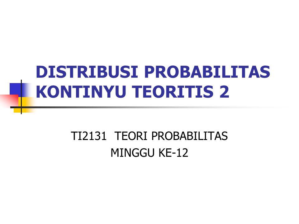 DISTRIBUSI PROBABILITAS KONTINYU TEORITIS 2