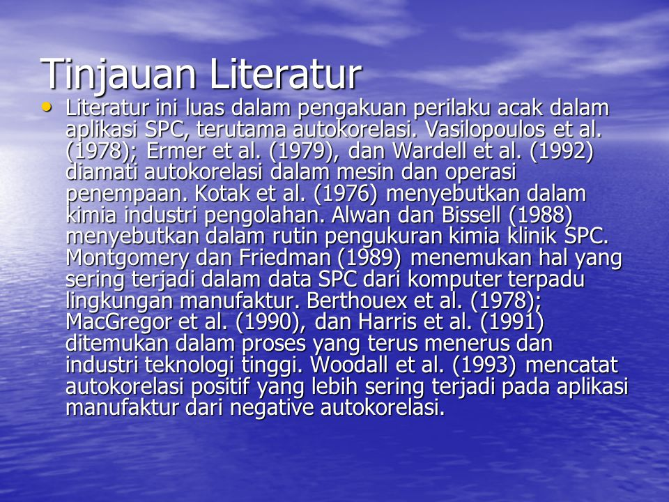 Tinjauan Literatur